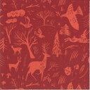 RICO DESIGN 可愛い 素敵な ペーパーナプキン デコパージュ お子様・子供におすすめ☆冬の森の動物 トナカイ クリスマス☆(WINTERWALD)(20枚入り)