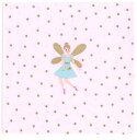 RICO DESIGN 可愛い 素敵な ペーパーナプキン デコパージュ お子様・子供におすすめ☆妖精 フェアリー プリンセス ゴールド ドット 水玉 ピンク☆(PRINCESS)(20枚入り)