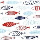 ドイツ HOME FASHION 可愛いペーパーナプキン デコパージュ お子様・子供におすすめ ☆イラスト風 魚 フィッシュ☆(Fish on Tour)(20枚入り)