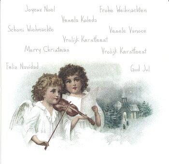 北欧 Sagen アンティークな ペーパーナプキン デコパージュ☆天使のバイオリン 楽器 ビンテージ☆(Angels playing Violin)(1枚/バラ売り)