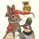 PPD Vicki Sawyerシリーズ  可愛い ペーパーナプキン デコパージュ ☆収穫パーティー うさぎ 鳥 野菜☆(Harvest Party)(1枚/バラ売り)
