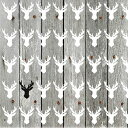 オランダ Ambiente 可愛い ペーパーナプキン デコパージュ ☆クリスマス トナカイ 鹿 木目 板 ☆(One Black Deer)(1枚/バラ売り)