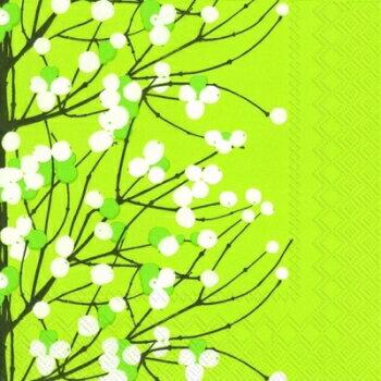 marimekko マリメッコ 可愛い ペーパーナプキン デコパージュ☆LUMIMARJA light green☆(1枚/バラ売り)