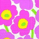 marimekko マリメッコ 可愛い ペーパーナプキン デコパージュ☆UNIKKO Light pink☆(1枚/バラ売り)