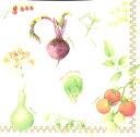 Pippy 2号店で買える「FRONTIA 素敵な ペーパーナプキン デコパージュ お子様・子供におすすめ☆大地からの贈り物 野菜 トマト たまねぎ きのこ えんどう☆(1枚/バラ売り)」の画像です。価格は66円になります。