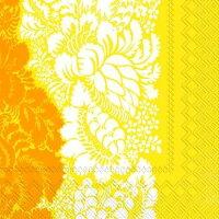 marimekko マリメッコ 可愛い ペーパーナプキン デコパージュ☆ANANAS yellow☆(1枚/バラ売り)