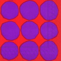 marimekko マリメッコ 可愛い ペーパーナプキン デコパージュ☆KIVET red☆(1枚/バラ売り)