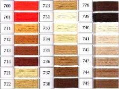 オリンパスししゅう糸(色指定分)茶系(700〜745)【手芸用品】