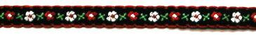 チロリアンテープ・花柄2(黒/赤)(テープ アクセント 飾り ハンドメイド 可愛い オシャレ 手芸 ミシン 手芸用品 )