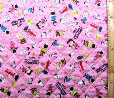 スヌーピー(ピンク)#98(材料セット レシピ付き・キルティング)レッスンバック(またはピアニカケース)とシューズケース用手作りキット(キャラクター 材料キット パーツ )【×クロネコDM便不可】