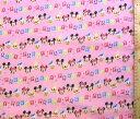 生地 ダブルガーゼ キャラクター ・ ミッキーマウスと仲間たち(ピンク)#87ディズニー(商品の特性上、柄が多少歪んでいる場合がありますのでご了承ください。)( ダブルガーゼ生地 Wガーゼ マスク ハンカチ スタイ 赤ちゃん ベビー キッズ )