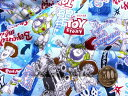Q- キルト - キャラクター キルティング 生地 はぎれ カットクロス 40cm トイストーリー(ブルー)#26・ディズニー