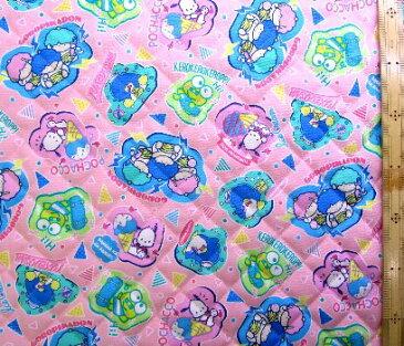 サンリオ80sキャラクターズ(ピンク)#9(材料セット レシピ付き・キルティング)レッスンバック(またはピアニカケース)とシューズケース用手作りキット(キャラクター 材料キット パーツ )【×クロネコDM便不可】
