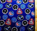 キャラクター アメリカ 輸入 生地 NASA ( 紺 ) ( ナサ ロケット 宇宙 星 探査機 カッコイイ 子供 入園 入学 ) USAコットン 直輸入