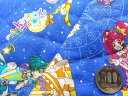Q- キルト - キャラクター キルティング 生地 はぎれ 40cm スター☆トゥインクルプリキュア(ブルー)