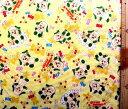 生地 ダブルガーゼ キャラクター いないいないばぁっ! ( イエロー ) 柄番号4( 布 綿100% ) 生地幅−約106cm ( 商品の特性上、柄が多少歪んでいる場合がありますのでご了承ください。 ) ( マスク ハンカチ スタイ 赤ちゃん ベビー )