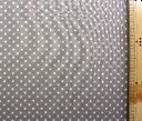 ダブルガーゼ生地 布 水玉 ( グレー ) ( 綿100% 吸湿冷感加工 ) 生地幅−約108cm ( 商品の特性上、柄が多少歪んでいる場合がありますのでご了承ください。 )( みずたま 水玉柄 マスク ハンカチ スタイ )