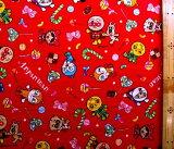 キャラクター 生地 布 アンパンマン( 赤 ) 柄番号83( 2020 - 2021 ) オックス(綿100%)生地幅−約108cm