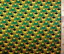 ダブルガーゼ生地 布 亀甲 (イエロー グリーン ) ( 綿100% ) 生地幅−約105cm ( 商品の特性上、柄が多少歪んでいる場合がありますのでご了承ください。 )( 鬼滅の刃 きめつのやいば きめつ 富岡 義勇 とみおか ぎゆう マスク )