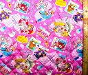 <Qキャラクター・キルティング生地> トロピカルージュ! プリキュア ( ピンク ) ( 2021 ) キルト 生地幅−約106cm 表地−オックス ( トロピカ ルージュ )