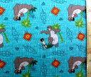キャラクター アメリカ 輸入 生地 ジャングル ブック ( グリーン ) 【 ディズニー 】 USAコットン 直輸入