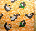 キャラクター アメリカ 輸入 生地 ジャングル ブック ( オレンジ ) 柄番号2【 ディズニー 】 USAコットン 直輸入