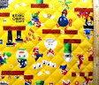 <Qキャラクター・キルティング生地>スーパーマリオメーカー(イエロー)#2【キルティング】【キルト】【キャラクター】【キルティング生地】【布】【入園】【入学】