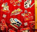 可愛い巾着袋が簡単に作れます!巾着袋(材料セット)・トミカ・レスキューファイアー(赤)