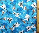 キャラクター アメリカ 輸入 生地 アナと雪の女王(ネル生地・オラフ/ブルー)#3 ディズニー