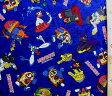 巾着袋(材料セット)・ヘボット(紺)#2【体操服入れ・給食袋・お弁当袋・コップ袋が各1個(合計4個)作れます】【クロネコDM便OK】
