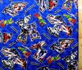 <Qキャラクター・キルティング生地>爆走兄弟レッツ&ゴー!!(紺)【キルティング】【キルト】【キャラクター】【キルティング生地】【布】【入園】【入学】