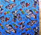 爆走兄弟レッツ&ゴー!!(ブルー)(材料セット・キルティング)レッスンバック(またはピアニカケース)とシューズケース用手作りキット【×クロネコDM便不可】