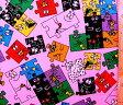 巾着袋(材料セット)・バーバパパ(ピンク)#3【体操服入れ・給食袋・お弁当袋・コップ袋が各1個(合計4個)作れます】【クロネコDM便OK】