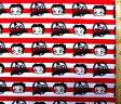 <キャラクター生地・布・USAコットン・直輸入正規ライセンス品>ベティ(赤・ボーダー)#5【キャラクター】【生地】【布】【キャラクター生地】