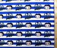 <キャラクター生地・布・USAコットン・直輸入正規ライセンス品>ベティ(青・ボーダー)#5【キャラクター】【生地】【布】【キャラクター生地】