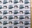<キャラクター生地・布・USAコットン・直輸入正規ライセンス品>ベティ(グレー・ボーダー)#5【キャラクター】【生地】【布】【キャラクター生地】