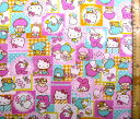 巾着袋(材料セット)・レシピ付き サンリオ・キャラクターズ(ピンク)#10【体操服入れ・給食袋・お弁当袋・コップ袋が各1個(合計4個)作れます】( キャラクター 生地 材料キット )【ゆうパケット(メール便)OK】