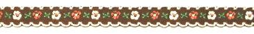 チロリアンテープ・花柄2(茶/白)(テープ アクセント 飾り ハンドメイド 可愛い オシャレ 手芸 ミシン 手芸用品 )
