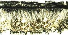 フリルレース(3センチ幅)黒×ゴールド