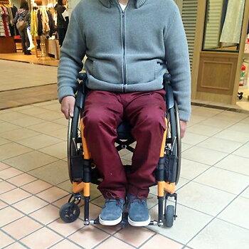 【元パラリンピック日本代表車椅子バスケキャプテン京谷和幸モデル!】ピーチスマイルチノパン[ダークレッド]児島ジーンズオーダーメイド