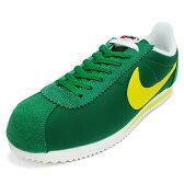 NIKE ナイキ CLASSIC CORTEZ NYLON AW クラシックコルテッツナイロンAW green/yellow グリーン/イエロー 844855-370 16FA