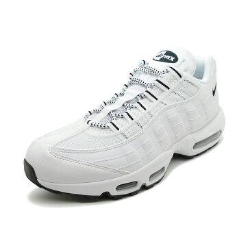 スニーカー ナイキ NIKE エアマックス95 ホワイト/ブラック メンズ レディース シューズ 靴 18HO