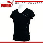 ロゴ SS Vネック TEE【PUMA】プーマ ●レディースウェア(510256)*68