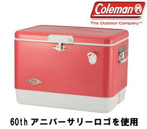 54QT60THアニバーサリースチールベルトクーラー(ストロベリー)【coleman】コールマンクーラーボックス16SS(3000004166)<※00>