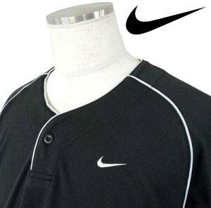 S/Sチームヘンリーネックユニフオームジヤージ【NIKE】ナイキ野球特価ベースボールTシャツ12FW(193908)
