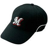 ベンチレーションキャップ(野球)(09ブラック×ホワイトパイピング)【MIZUNO】ミズノ●野球 ウエア 帽子(52BA23009)*59