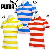 ILP ストライプポロシャツ【PUMA】プーマ ●レディースポロシャツ(567130)*81