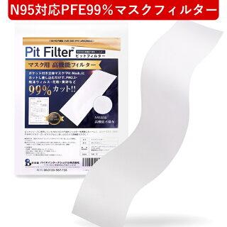 日本製ピットフィルターシートマスク用フィルターピットフィルターシートN95対応フィルターPFE99%フィルターVFE99%フィルターマスク用高機能フィルター