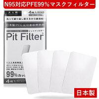 日本製 国産マスク マスク フィルター コロナウィルス対策 マスク ピットフィルター 国産 洗える 日本製 マスク フィルター N95対応フィルター PFE99%フィルター VFE99%フィルター マスク用高機能フィルター アレルキャッチャー