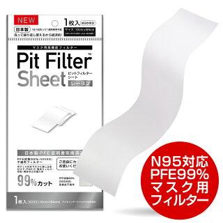 日本製マスク用高機能フィルターピットフィルターシートレーヨンマスク用フィルターピットフィルターシートN95対応フィルターPFE99%フィルター